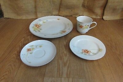 Fine China of Japan Annabelle 5001 and 5002 Plate Coffee Cup Saucer #2097