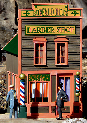 PIKO RIVER CITY BUFFALO BILL'S BARBER SHOP G Scale Assembled Building #62726