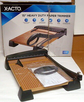 """X-Acto 15"""" Heavy Duty Guillotine Paper Cutter Trimmer 26315"""