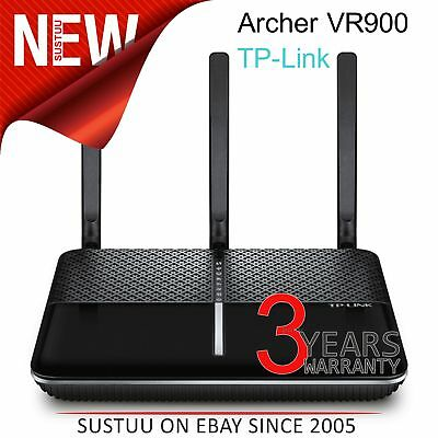 TP-Link ARCHER VR900 V2│AC1900 Wireless Gigabit VDSL/ADSL Modem Router│PhoneLine