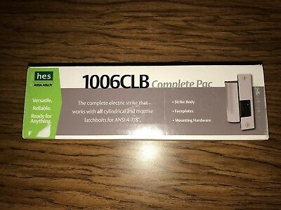 HES 1006CLB - 12/24D-630 Complete Pac Electric Strike 12/24VDC Stainless, New