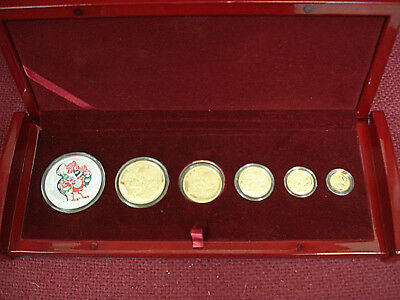 2005 China Panda Lunar Year of Rooster premium limited 6 Coins Set