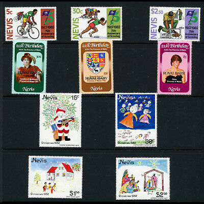 NEVIS 1982 Royal Baby, Scout, Christmas. SG 88-90, 91-93, 94-97. MNH. (AF280)