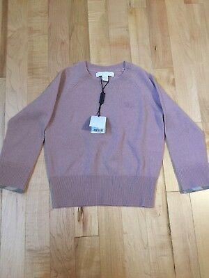 Burberry Kids Cashmere Georgey Sweater (Color--Dusty Pink; Size 4T)