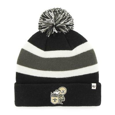 NEW ORLEANS SAINTS  47 Brand Womens Fiona Cuff With Pom Knit Beanie ... 9c6cbf528