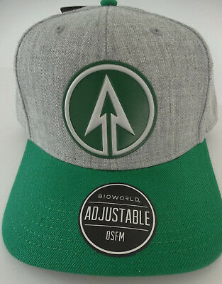 best service 1c28f b1524 Green Arrow Oliver Queen Chrome Weld DC Comics Snap Back Curved Bill Hat Nwt