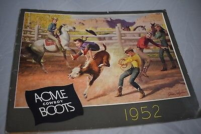 1952 ACME Cowboy Boots Catalog.  16 pages of Lovely Boots & Price Page