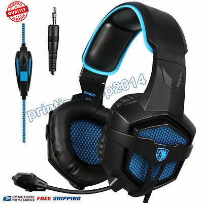 SADES SA-807 Stereo Gaming Headset Headphones Over-Ear with Microphone NEW