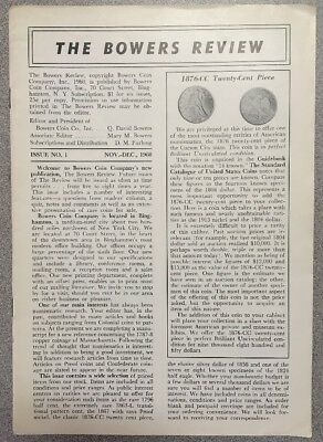 The Bowers Review Issue No. 1 Nov-Dec 1960
