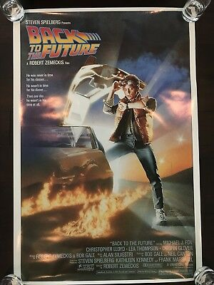 BACK TO THE FUTURE / Original Movie Poster 27x40  / First Print