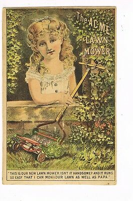 VICTORIAN ADVERTISING / TRADE Card      THE ACME LAWN MOWER