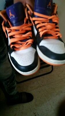 Nike Air Jordan Retro 1 Men's Sneakers Size 8 Orange/black/white/purple