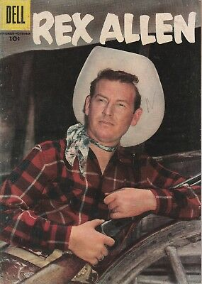 1956 Issue # 22 REX ALLEN Vintage Western Cowboy Silver Age Dell Comic Book