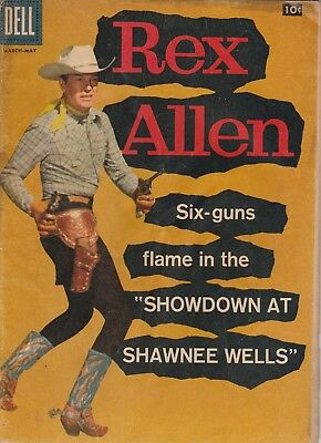 1958 Issue # 28 REX ALLEN Vintage Western Cowboy Silver Age Dell Comic Book