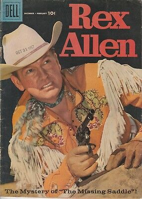 1958 Issue # 27 REX ALLEN Vintage Western Cowboy Silver Age Dell Comic Book