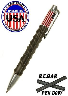 American Beauty Twist Action Ballpoint Pen with Rebar & Chrome Hardware / #296