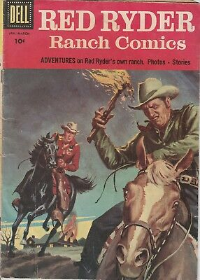 1957 Issue # 150 RED RYDER Ranch Magazine  Cowboy Silver Age Dell Comic Book