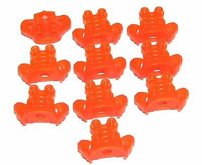 LEGO LOT OF 10 NEW PEARL GOLD MINIFIGURE BREASTPLATE ARMOR CASTLE KNIGHT PIECES