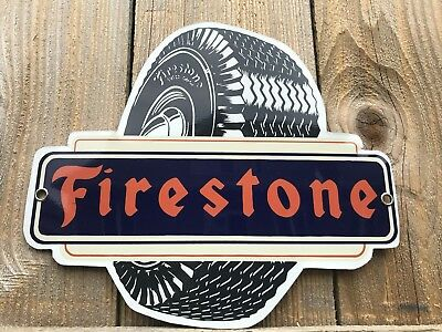 Firestone Tires Aluminum advertising sign Vintage Style