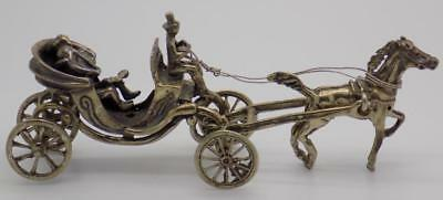 48g/1.7oz Vintage Solid Silver Italian Made Carriage Miniature, Figurine, Stamp