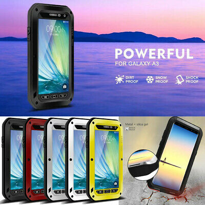 LOVE MEI Shockproof Heavy Duty Armor Metal Aluminum Cover Case For Samsung Phone