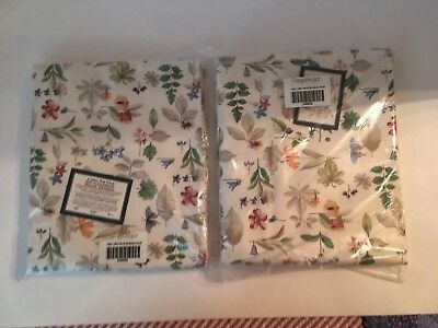 Longaberger Botanical Fields Pair Tab-Tie Drapery Panels, Lined, New in package