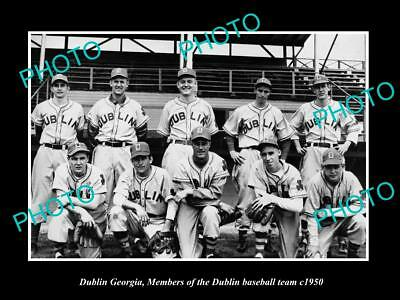 OLD LARGE HISTORIC PHOTO OF DUBLIN GEORGIA, THE TOWN BASEBALL TEAM c1950