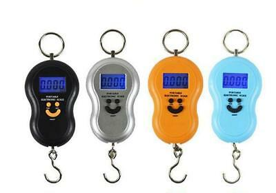 Portable Digital Hanging / Fishing Scale with Lighted LCD Display 50Kg / 5g-10g
