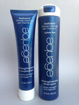 Aquage SeaExtend Strengthening Shampoo 10 oz & Conditioner 5 oz FREE SHIP FAST