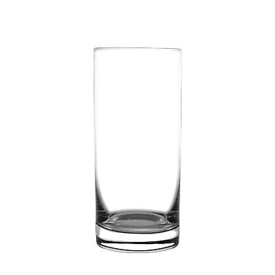 6x Glass Hi-Ball 385ml Tumbler Straight Commercial Bar Restaurant Cafe Beverage