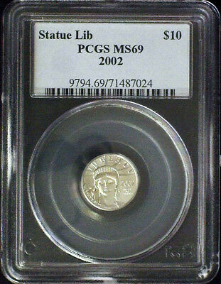 2002 Pcgs Ms69 Platinum $10 Coin