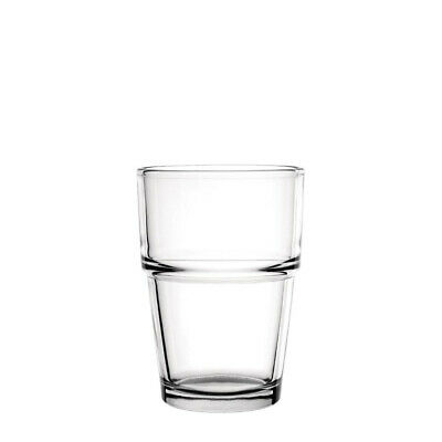 12x Glass 200ml Toughened Olympia Stackable Tumbler Commercial Bar Cafe Water