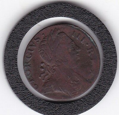 1773   King George  III  Farthing  Copper  Coin