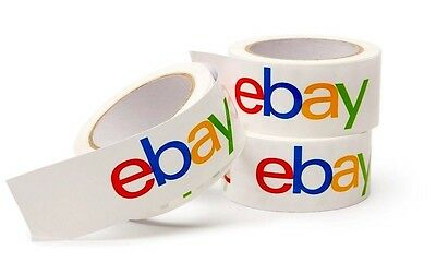 """ORIGINAL COLORED EBAY BRANDED BOPP PACKING TAPE 1 ROLL 75 Yds x 2"""" DISCONTINUED"""