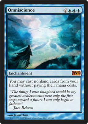 Omniscience NM/SP M13 MTG Magic The Gathering Blue English Card