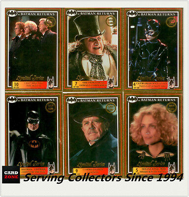*1992 Australia Dynamic Batman Returns Movie Gold EMBOSSED SET(10)-UNRELEASED