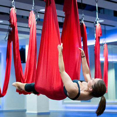 Aerial Yoga Hammock Swing Trapeze Invertion Pilates Sling Anti-Gravity Fitness
