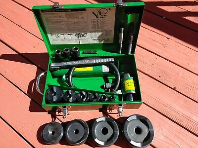 "Greenlee 7310sb 7646 hydraulic knockout punch driver 1/2""-4"" new punches & dies"