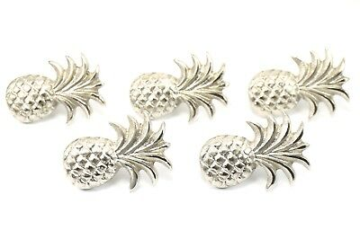 5PCS Door Knob Pineapple Cabinet Pull Brass Silver Handle Furniture Handmade