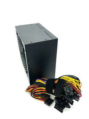 650Watt 12CM 120mm One Fan ATX 12V 650W Black SATA PCIE 24Pin Power Supply Quiet