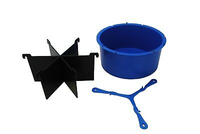 """6 Piece Cake Slice Round 5.5"""" Dia Candle Soap Mould, Wick Holder, Spacers S7791"""