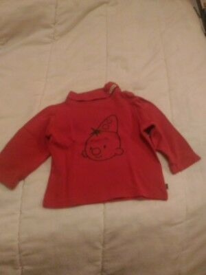 T-shirt manches longues rouge BUMBA taille 92