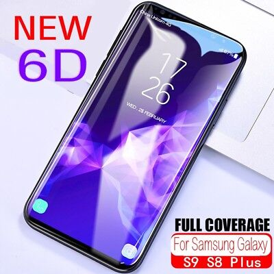 Screen Protector For Samsung Galaxy S9 S8 Plus 6D Full Coverage Tempered Glass