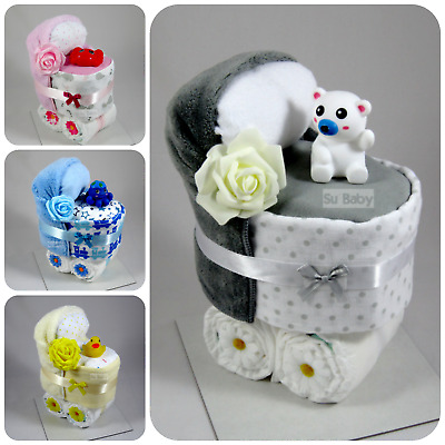 Nappy Cake Pram New Born Baby Shower Gift   *** Can be Personalised