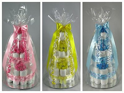 3 Tier Nappy Cake💕Maternity Leave💕New Born Baby Shower Gift🎁