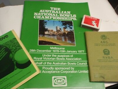 Lawn Bowls, Rules,    1977 championships