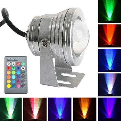 2/4X 10W RGB LED 16 Color Changing Flood Light Outdoor Spotlight Remote Control