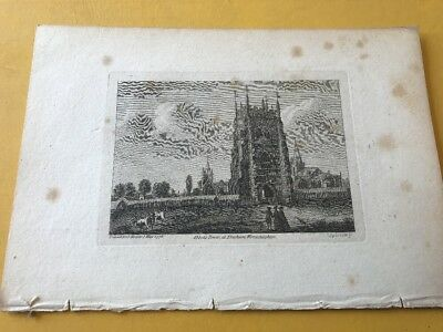 Abbots Tower, Evesham, Worcestershire 1776Print Antiquities Of England & Wales