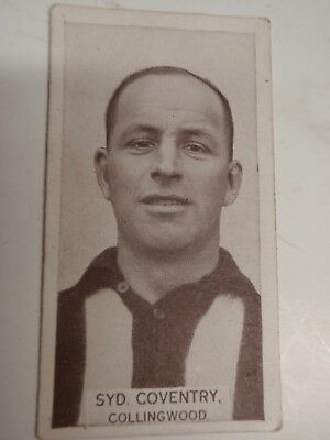Collingwood  Syd Coventry  Football Card 1933