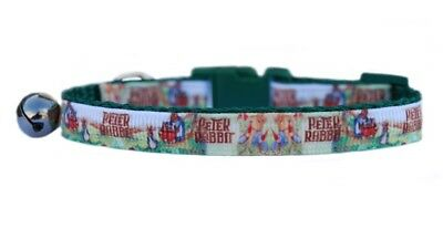 "Green  ""Peter Rabbit  ""  safety kitten cat collar"